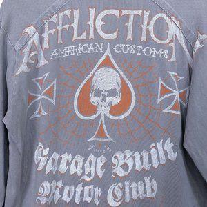 Affliction American Customs Long Sleeve Henley Shi
